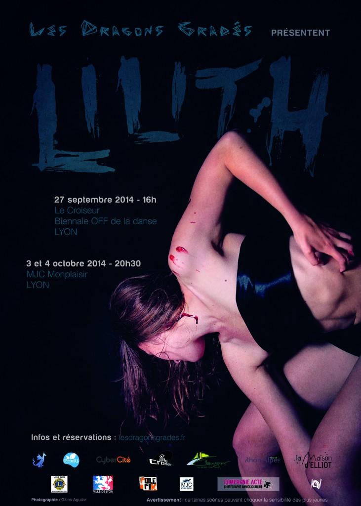L'affiche du ballet Lilith.