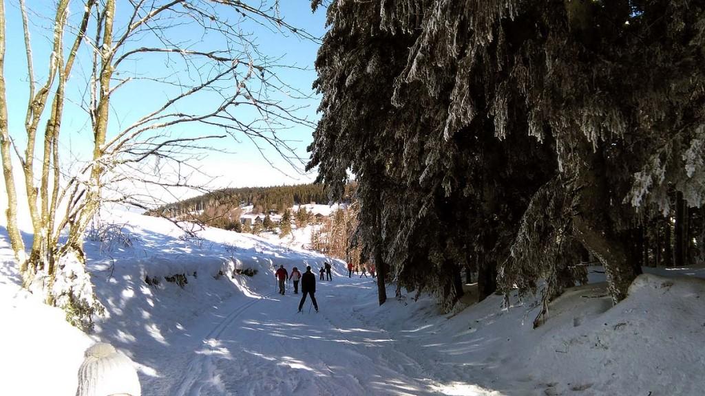 Ski de fond à la Croix de Chaubouret.