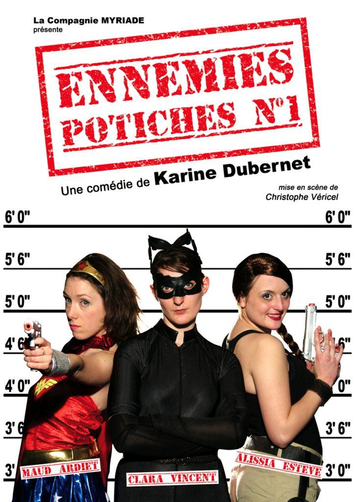 Ennemies Potiches numéro 1 est jouée tous les samedi, à 18 heures, à la Comédie Odéon.