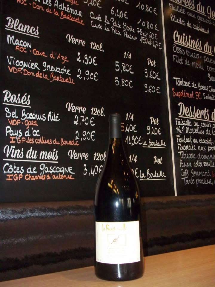 Le Bartavelle offre une carte des vins appréciable. Crédit photo : Facebook Le Bartavelle.