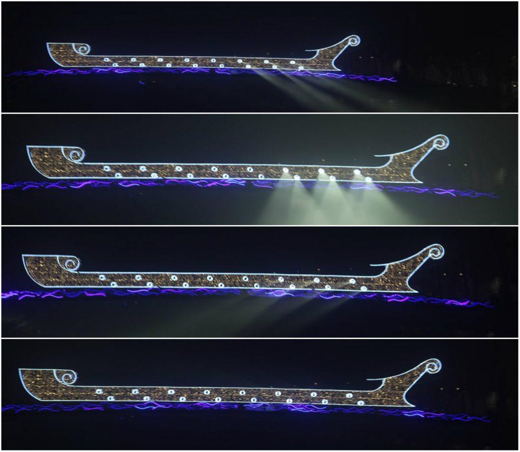 Fête des Lumières 2016 - The Bright Boat - Passerelle Abbé Couturier